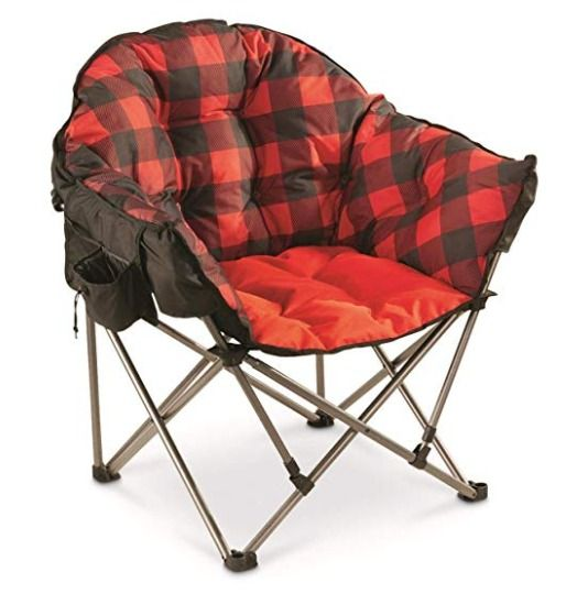 Oversized Camp Chair Holds Up To 500 Lbs And Is A Comfy And More Cushioned Than A Typical Camping Chair I Folding Camping Chairs Camping Chairs Camping Chair