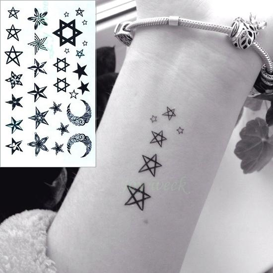 24 Henna Tattoos By Rachel Goldman You Must See: 24 Designs Waterproof Temporary Tattoo Sticker Ear Music