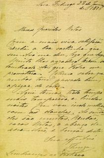 Carta da imperatriz Teresa Cristina a seus netos Nova Friburgo, 28 de janeiro de 1876.