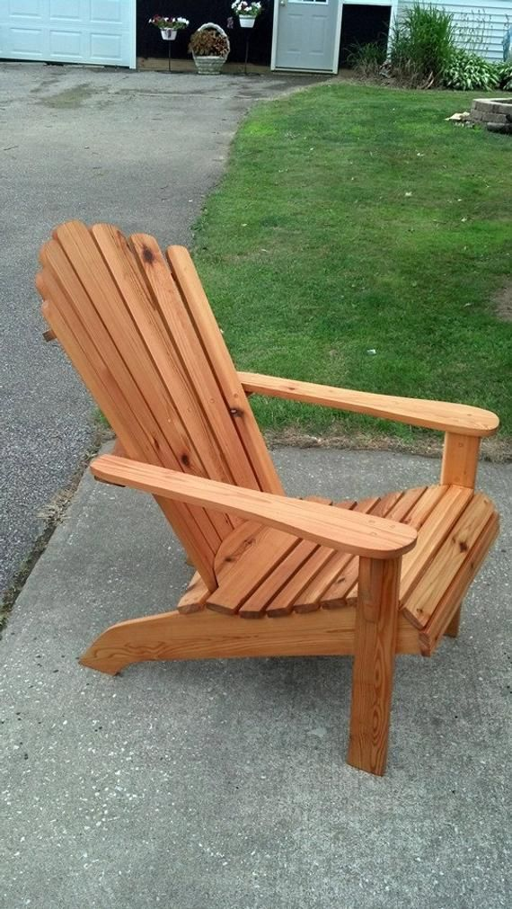 Cedar Adirondack Fanback Chair adirondack furniture
