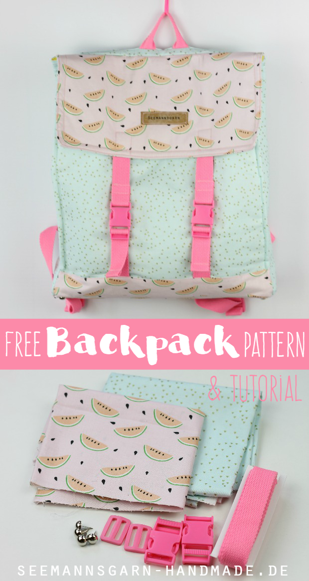 Mein Sommer-Rucksack • Tutorial & Schnitt | Pinterest | Backpacks ...
