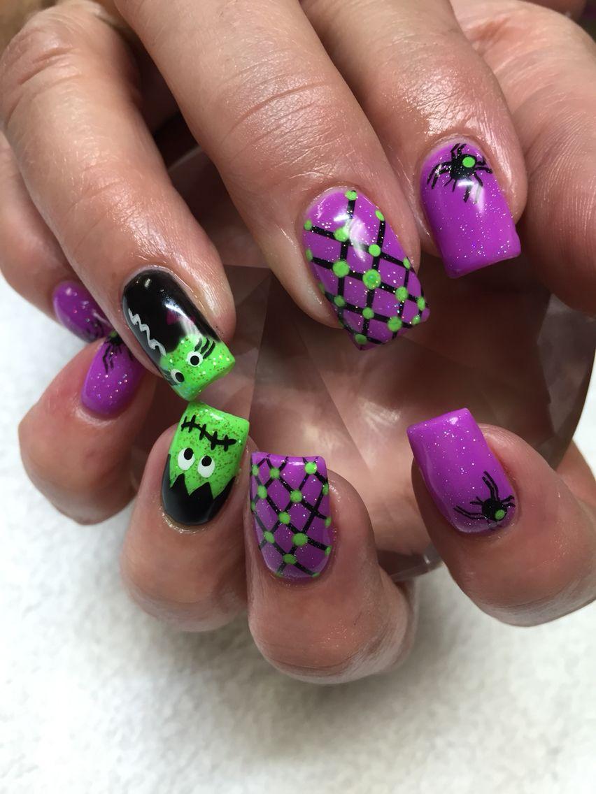 Halloween Nägel von mir gemacht! :)   – nail art