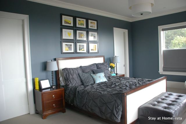 Best Charcoal Grey And Yellow Bedroom Love The Pintuck Bedding 400 x 300