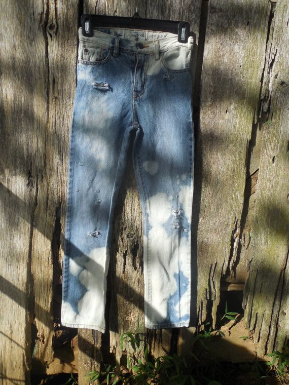 Girls size 12 splattered bleached hand distressed by LoganBrook