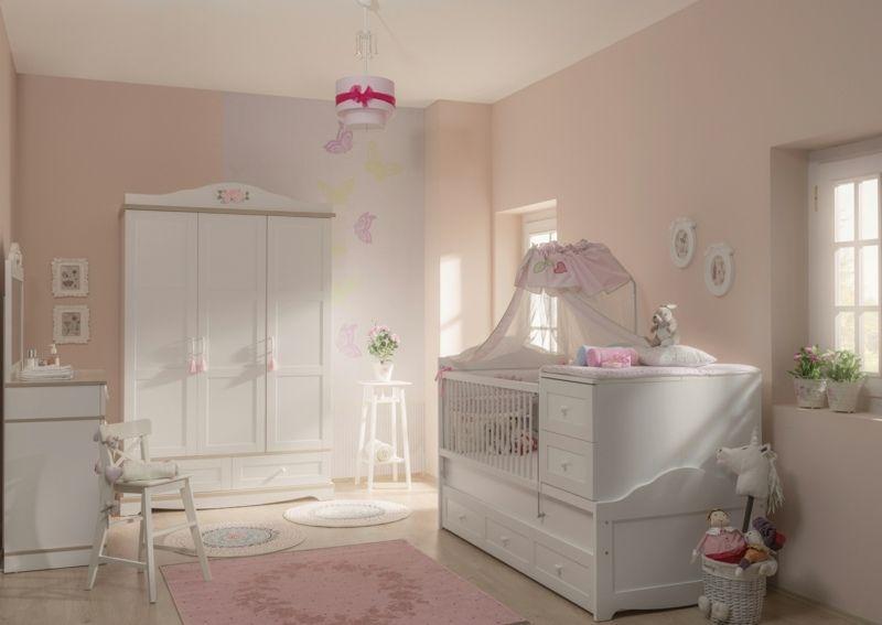 klassisch gestaltetes babyzimmer mit betthimmel | schwangerschaft ... - Babyzimmer Komplett Einrichten Babymobel