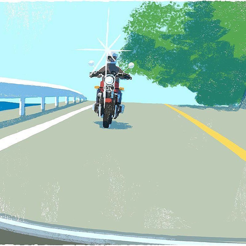 #illustration #painting #tatsurokiuchi #art #drawing #life #lifestyle #happy #japan #people #木内達朗 #イラスト #イラストレーション #motercycle #バイク