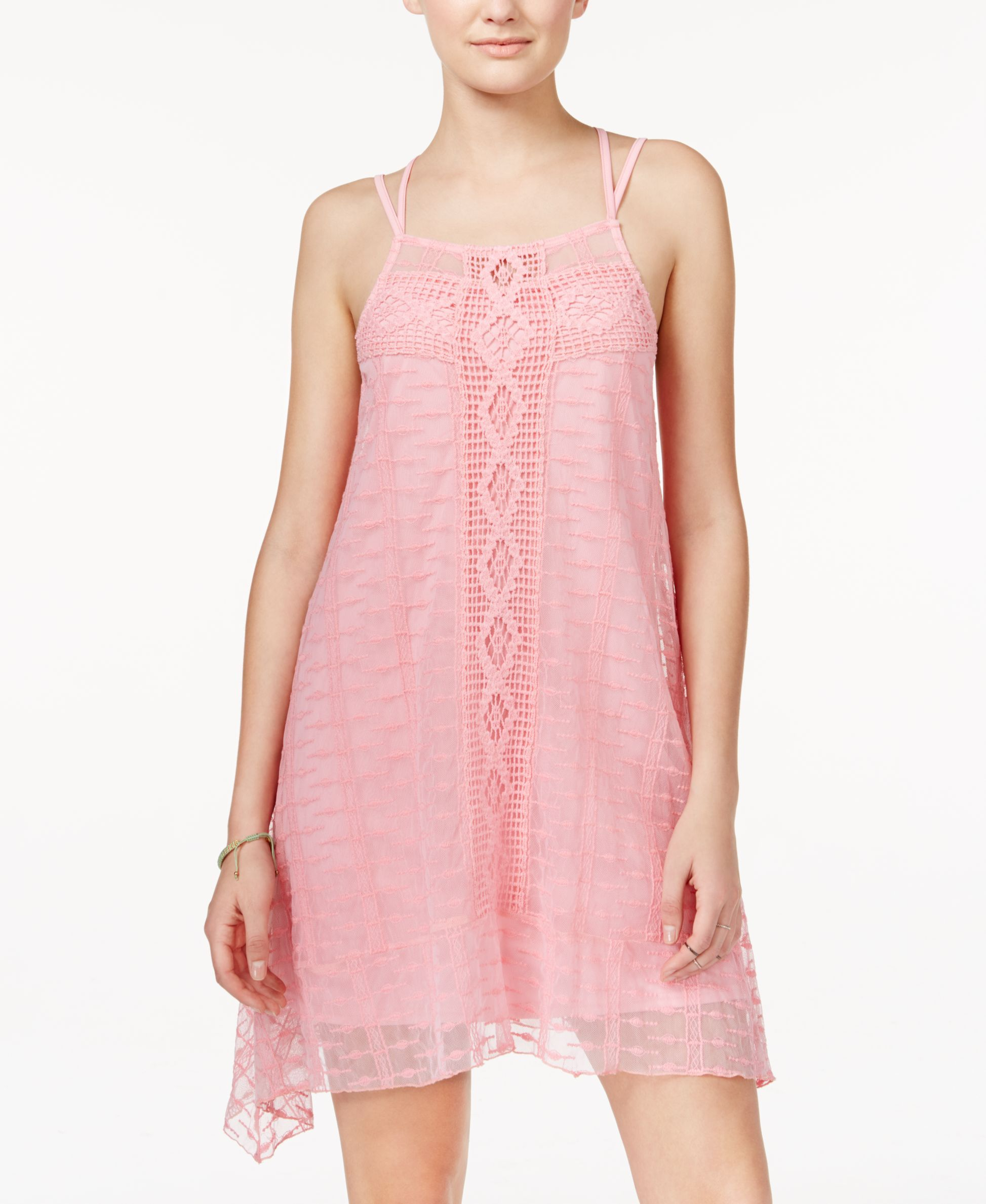 American Rag Lace Handkerchief-Hem Trapeze Dress, Only at Macy\'s ...