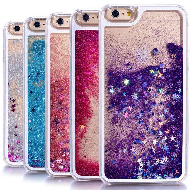Phone Bags & Cases 2018 Hot Sale New Plus Cases Fashion Dynamic Liquid Glitter Colorful Paillette Sand Quicksand Case For Iphone7 7plus Water Cover
