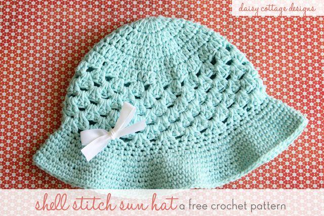Shell Stitch Sun Hat {Free Crochet Pattern}