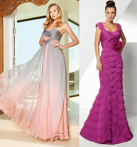 Vestidos para fiesta de bodas en la noche