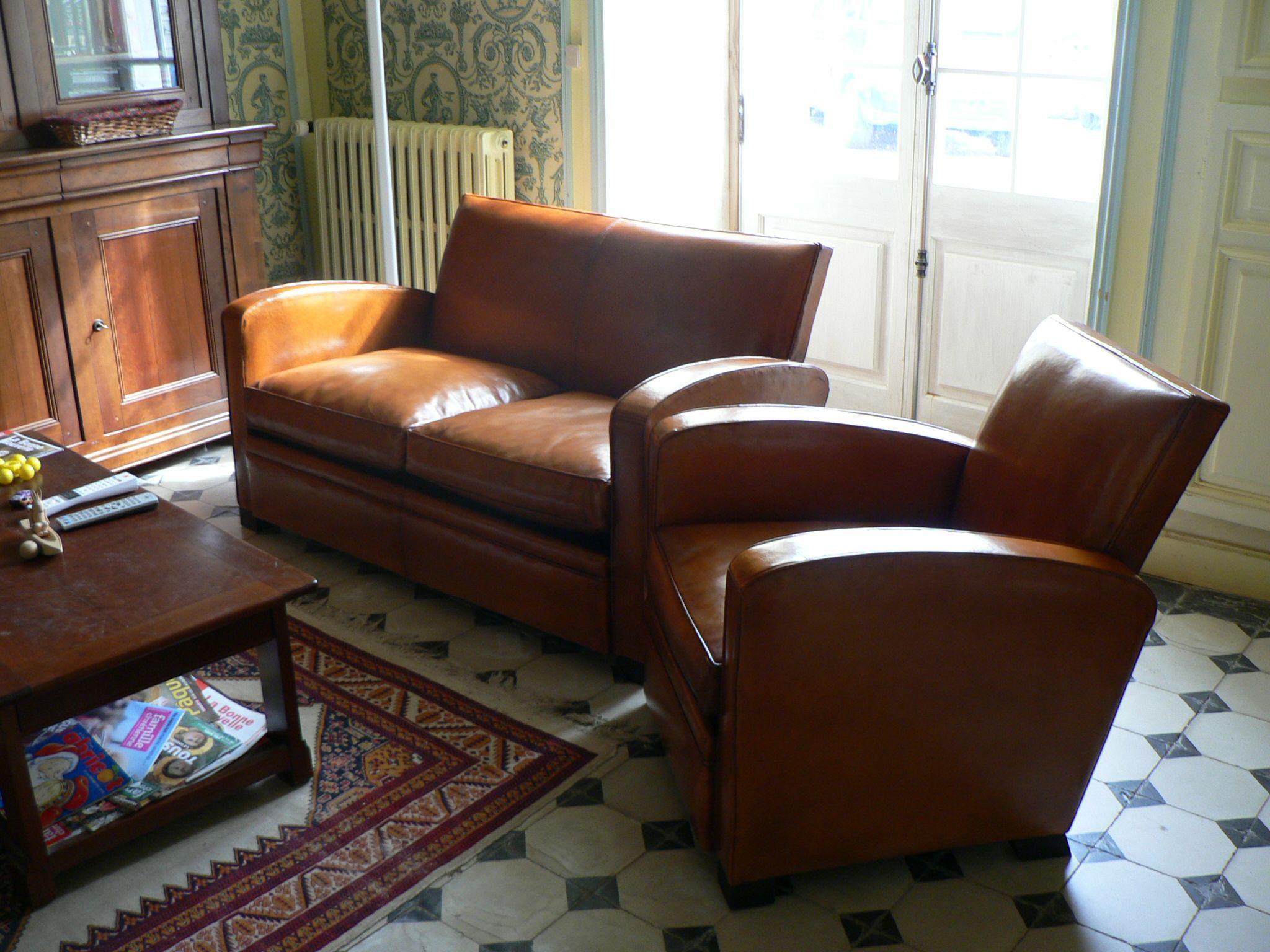 Art deco vintage leather sofa armchair - Explore Leather Chairs Leather Sofa And More