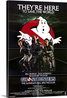 Ghostbusters (1984) Solid-Faced Canvas Print