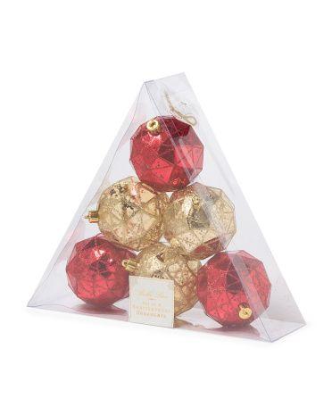 Set Of 6 Shatterproof Ornaments - Holiday Decor - T.J.Maxx - Set Of 6 Shatterproof Ornaments - Holiday Decor - T.J.Maxx