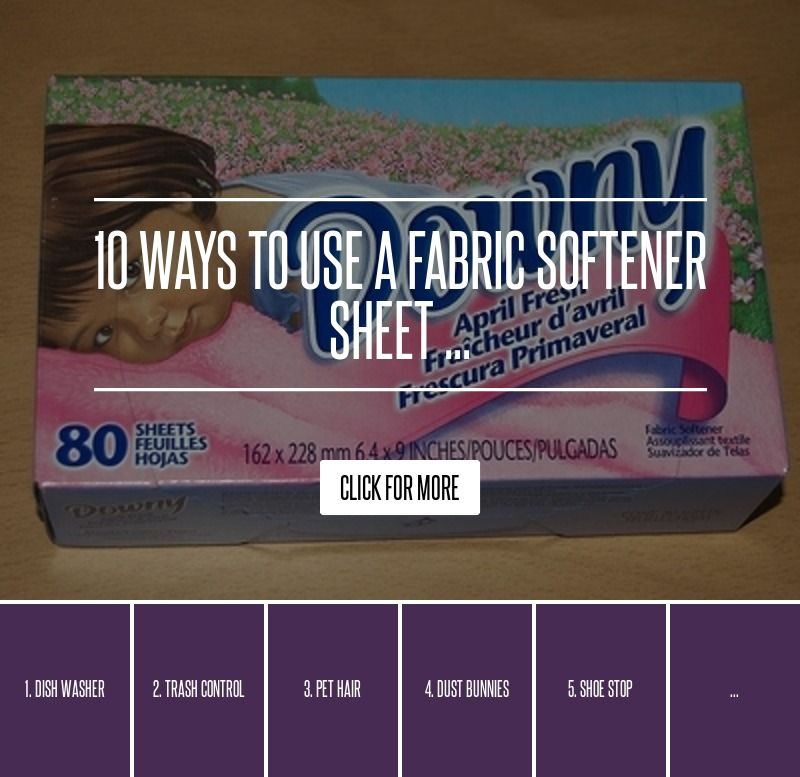 how to use fabric softener sheets