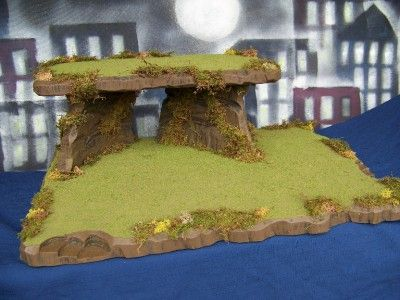 Half-Moon Cliff Halloween Village Landscape Platform Display Base For Dept 56 | eBay