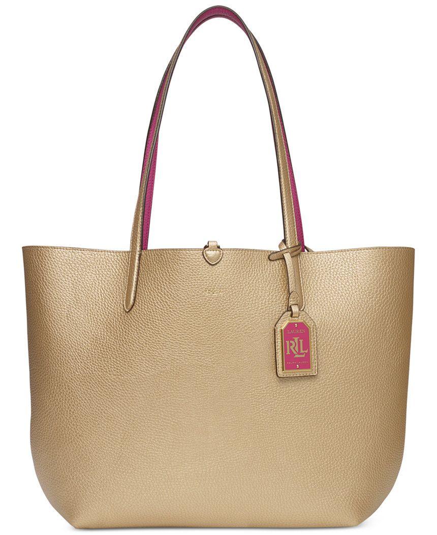 Lauren Ralph Lauren Milfred Olivia Reversible Tote - Lauren Ralph Lauren -  Handbags   Accessories - Macy s 51b812b0f98b9