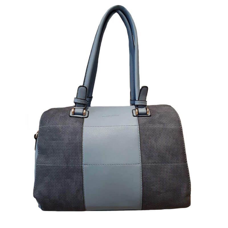 7d22315450 Γυναικεία τσάντα ώμου γκρι-μπλε ανοιχτό Modissimo 20762