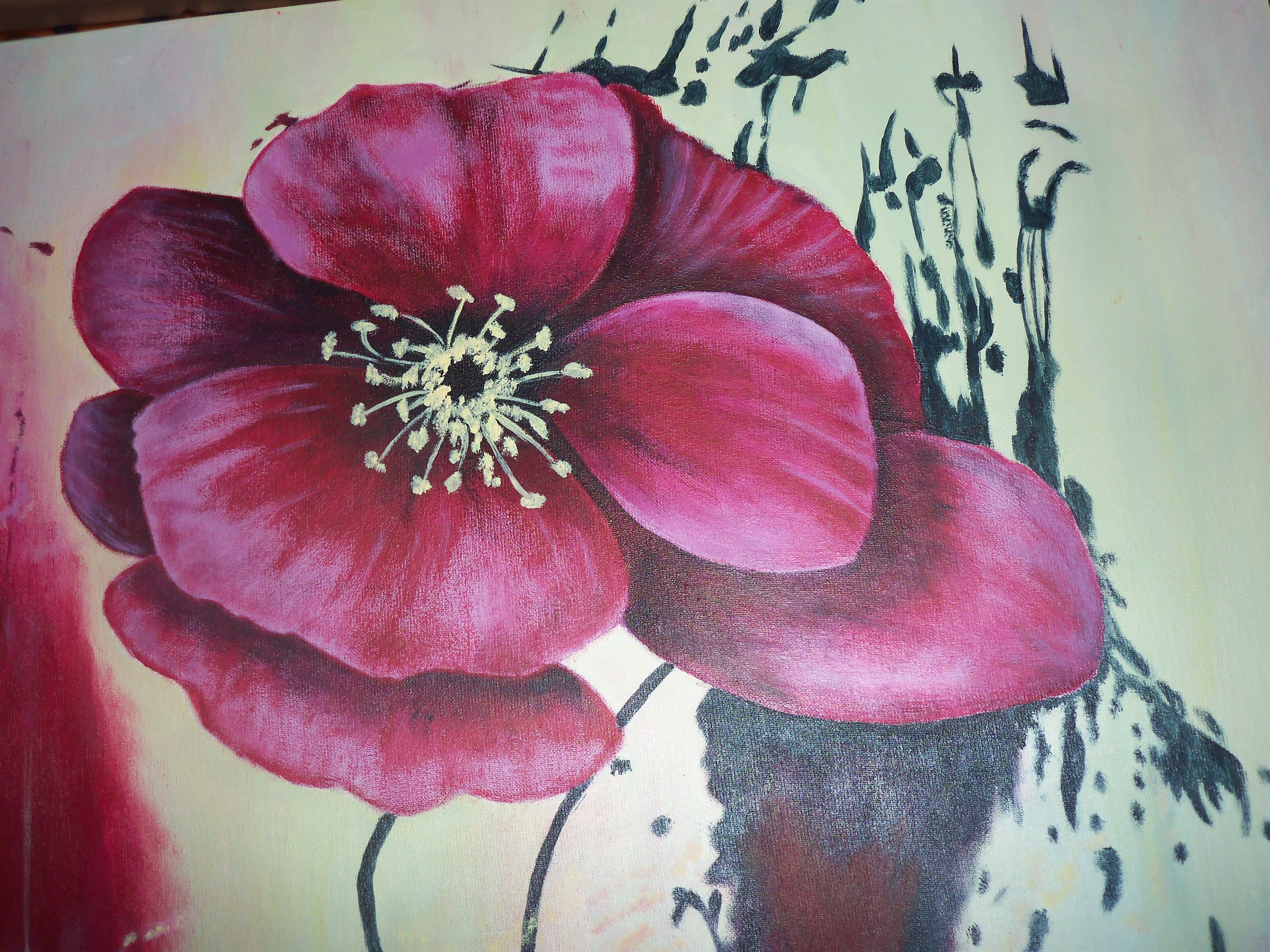 Cuadro pintado a mano con acrilico sobre tela artista for Cuadros pintados a mano