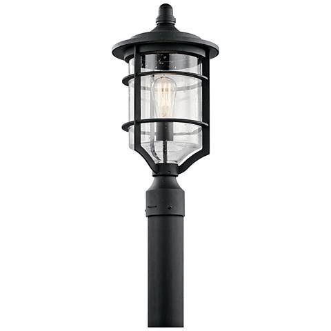 Kichler Royal Marine 19 High Black Outdoor Post Light Cabin