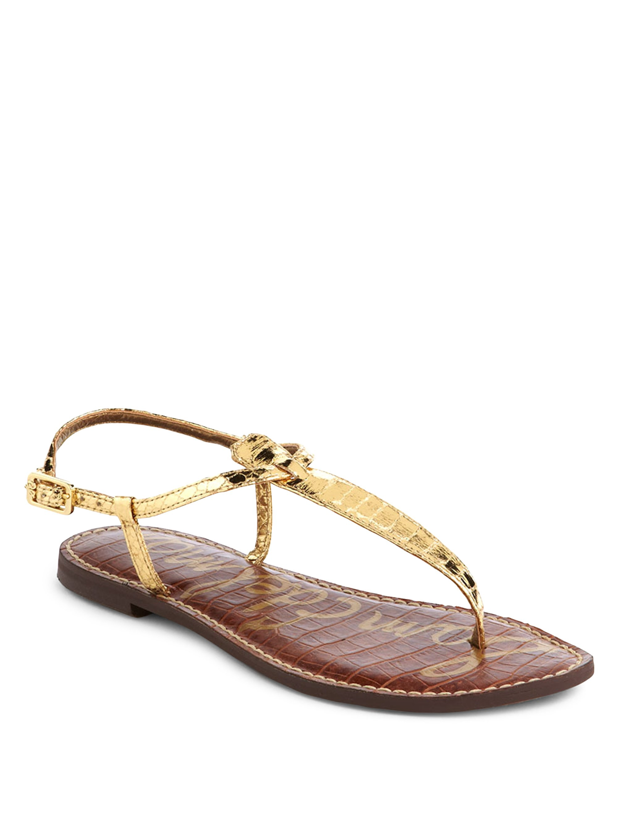 c4a1ca7c623 Sam Edelman Gigi Thong Slide Sandals - Gold 10.5
