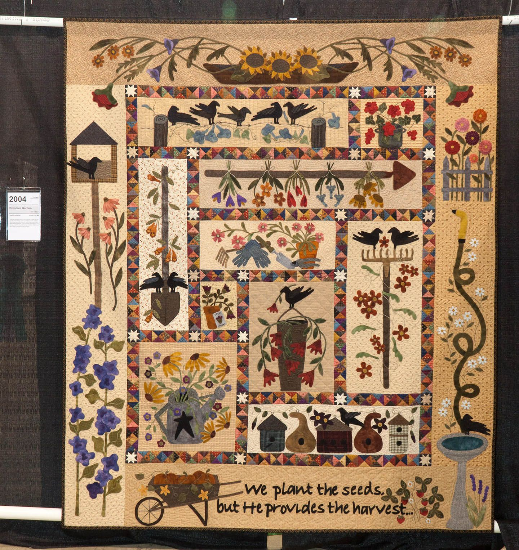 Primitive Garden By Kathy Bauman Viewer S Choice Wool Applique Quilts Quilts Applique Quilts