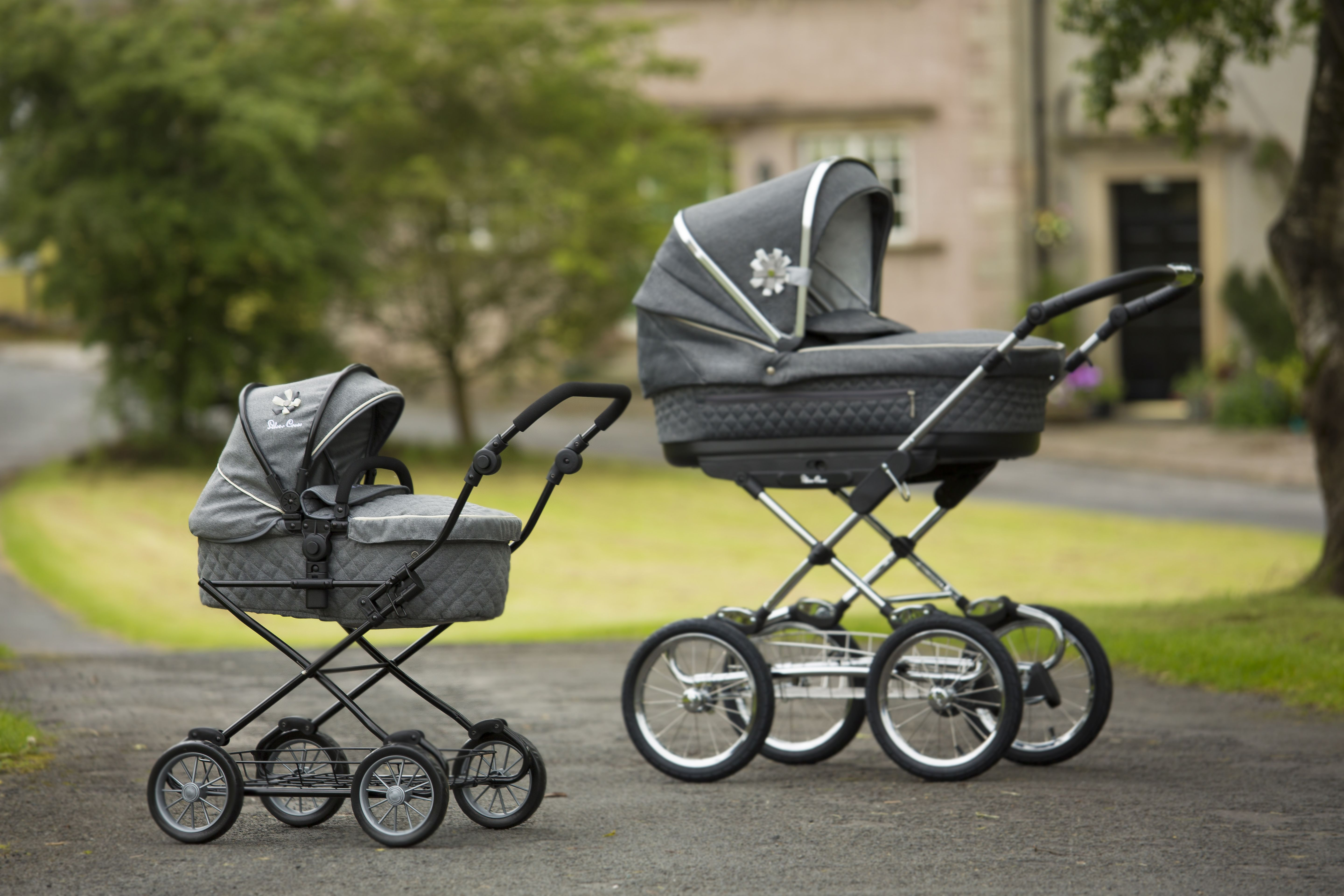 Gesslein Kinderwagen Modelle 2017 New Silver Cross Doll S Sleepover Doll S Pram In Eton Grey