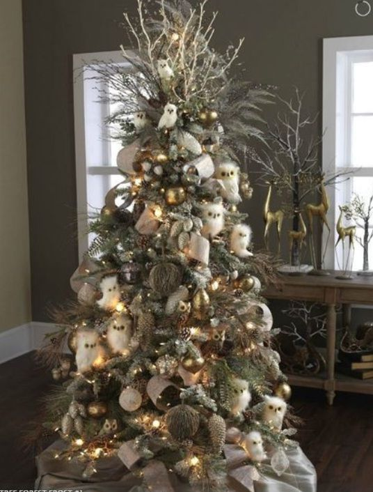 Beautiful Forest Frost Christmas Trees Decorating Ideas Pictures 23