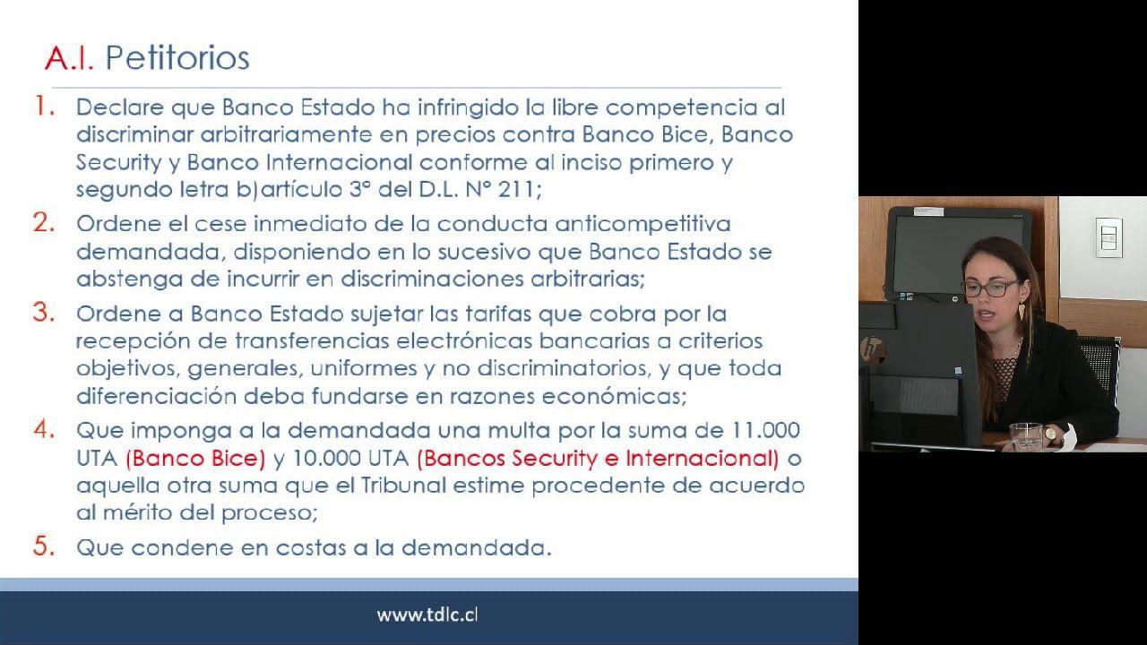 Rol C 323 17 Demanda De Banco Bice Contra Banco Estado Bancos Banco Internacional Acusaciones