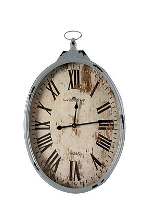 """This hanging paris clock will look great in a feminine styled home. It has a timeless look and makes a beautiful statement on the wall.<div class=""""pdpDescContent""""><BR /><b class=""""pdpDesc"""">Dimensions:</b><BR />L35xW6xH60 cm</div>"""