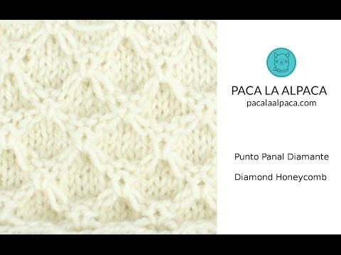 Cómo Tejer Punto Panal Diamante - Diamond Honeycomb - YouTube ...