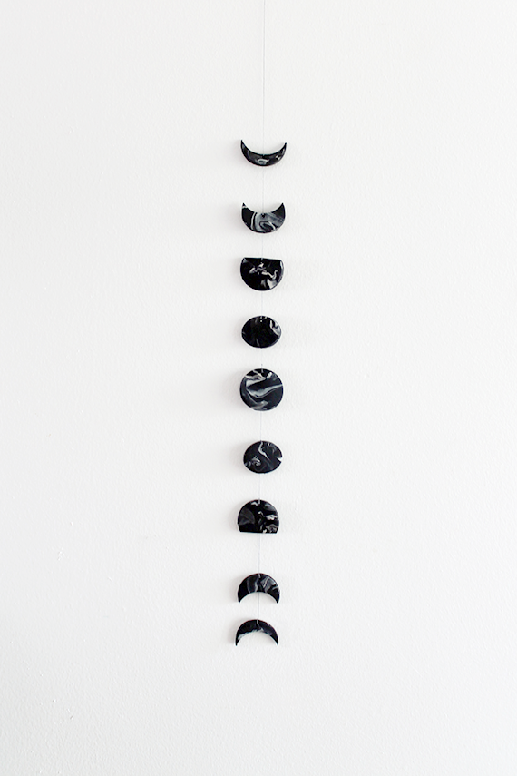 Diy Marble Moon Phase Wall Hanging Polymers Life Cycles