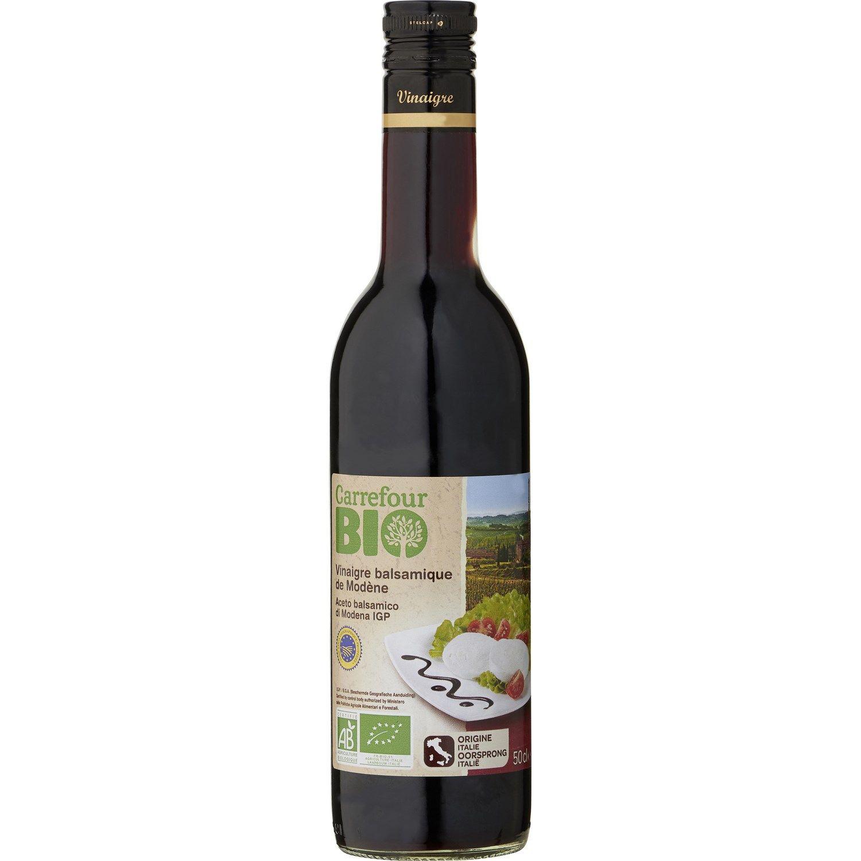 Vinaigre Bio Balsamique Carrefour Bio La Bouteille De 50cl A Prix Balsamique Bio Et Vinaigre