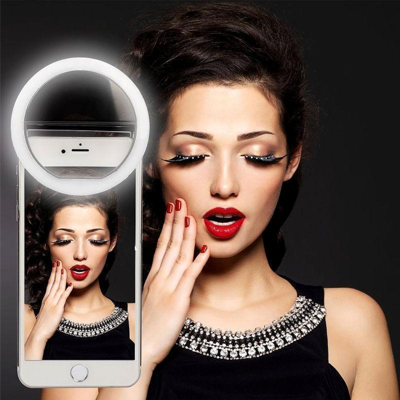 Portable Luxury Selfie Led Camera Ring Flash Fill Light For Iphone Mobile  Phone   Selfie ring light, Selfie light, Ring light for iphone