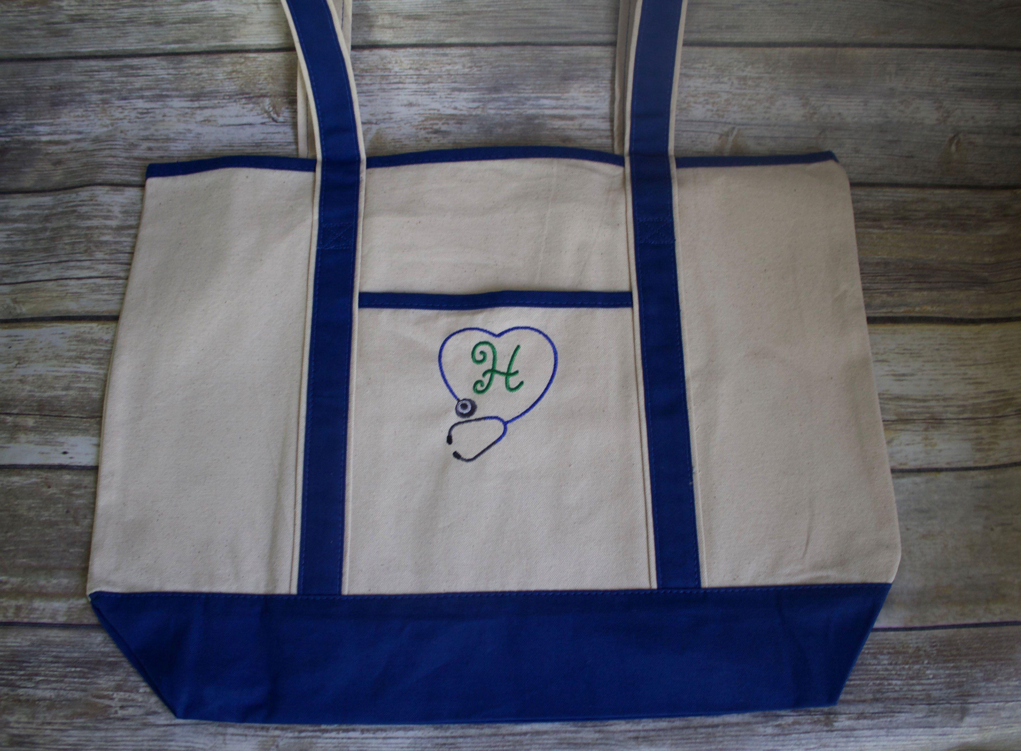 Nurses large personalized tote bag tote bag tote bags