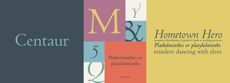 Centaur® Font Family - Fonts com The genius of fifteenth