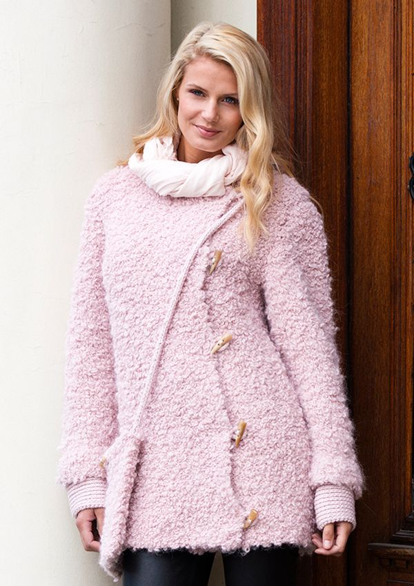 Beginner Knitting Pattern For A Stylish Coat New From Dale Garn