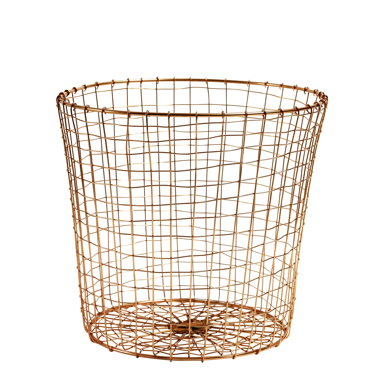 Papirkurv i kobberfinish   Baskets - Organization   Pinterest