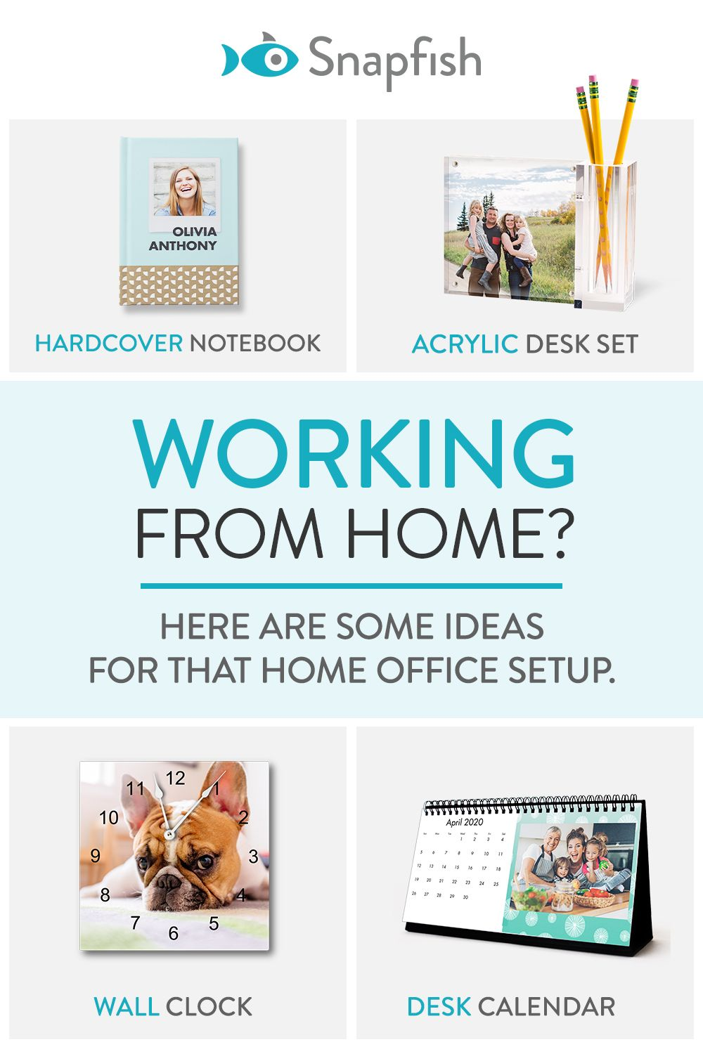 Personalize Home Office Custom Notebooks Business Cards Snapfish Us In 2020 Home Office Snapfish Office Setup
