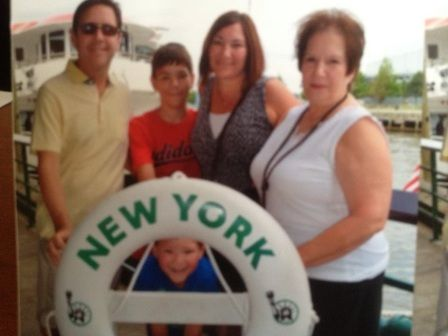 Janise and her family in New York