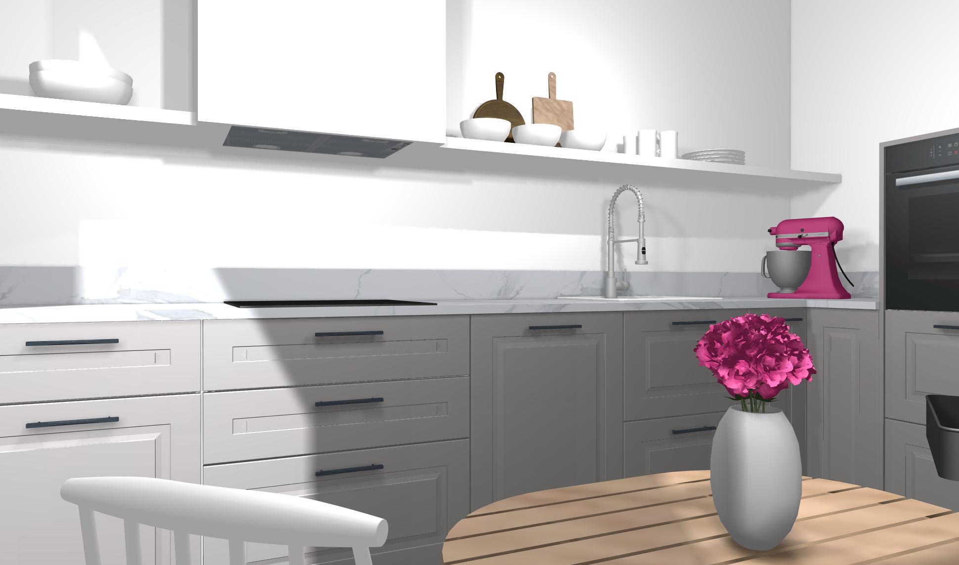 IKEA Küche planen: stylische Designerküche mit kleinem Budget