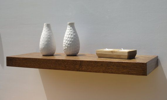 This floating wall shelf is perfect for any room of your home. dimensions : 6 x 24 x 1¾  pic 1 - Jacobean pic 2 - White wash pickling pic 3 -…