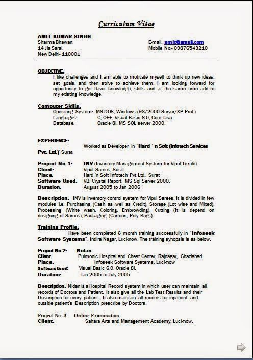 Good Resume Format Sample Template Example Of Excellentcv  Resume