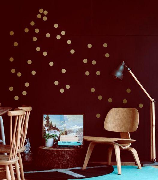 Wandtattoo konfetti kupfer 90er set polka dots for Wandtattoo kinderzimmer punkte