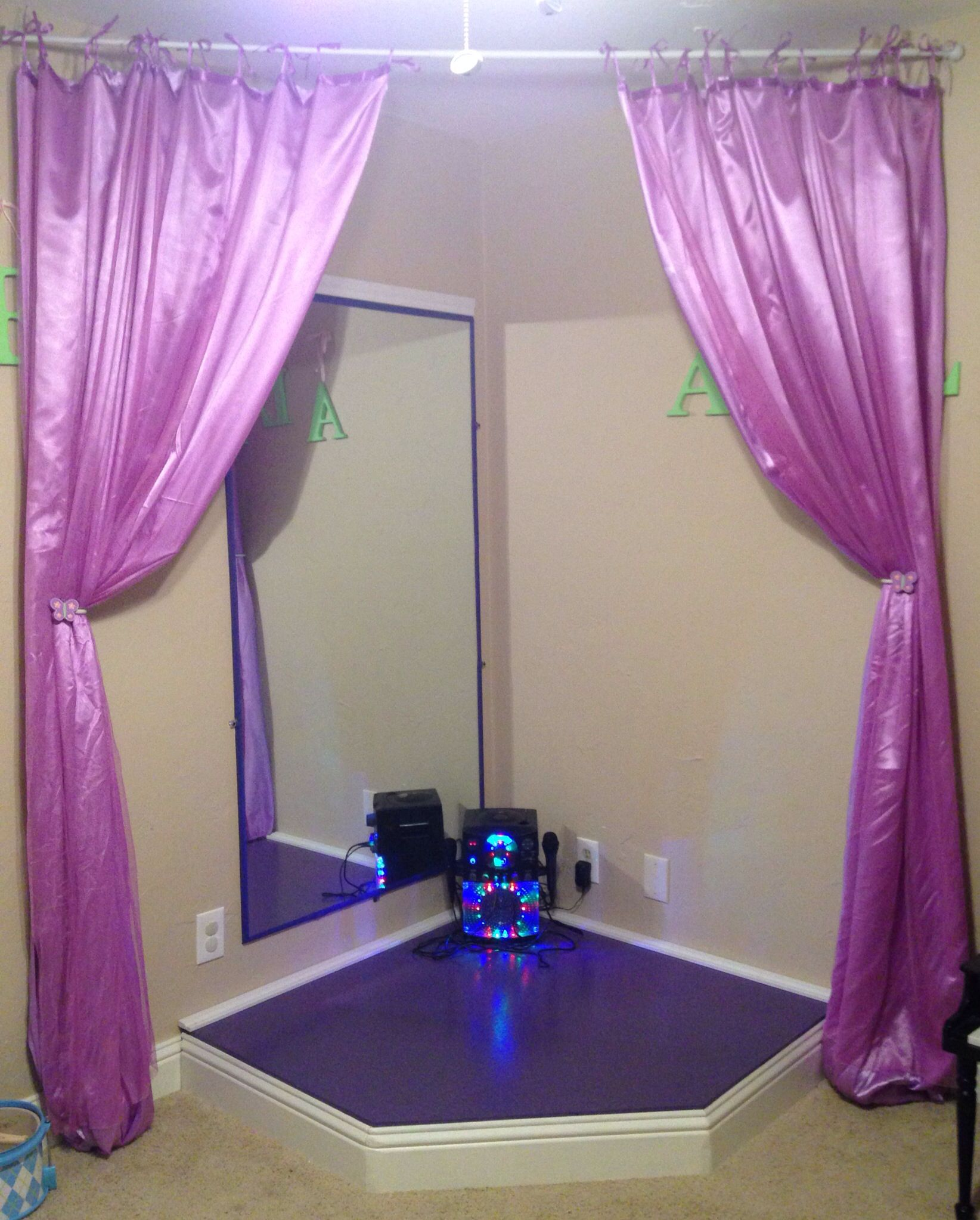 The Girls' Corner Stage In The Playroom Made By Their
