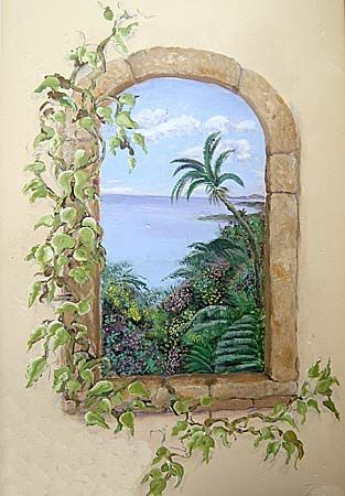 Tuscan Window Mural Idea In Art Window Mural Mural Wall Art