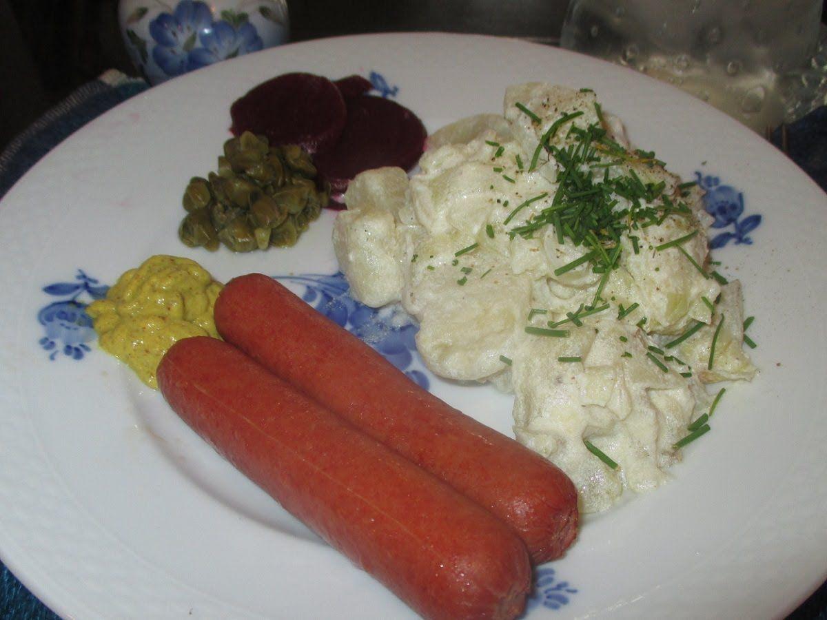 Danish Hot Potato Salad Med Billeder Mad Frikadeller Dansk