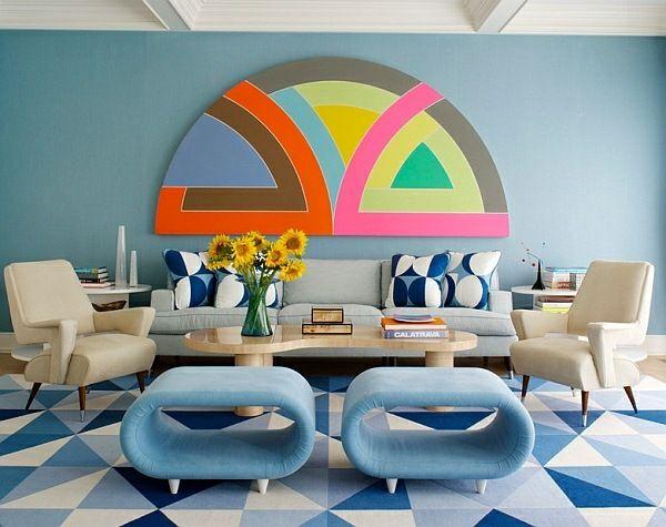 Woonkamer Felle Kleuren : De retro design lounge u2013 een moderne trend woonkamer pinterest