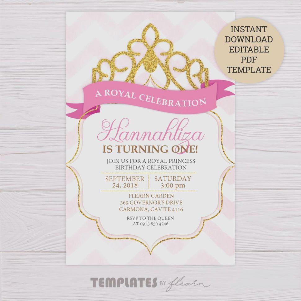 7 Princess Birthday Card Invitation