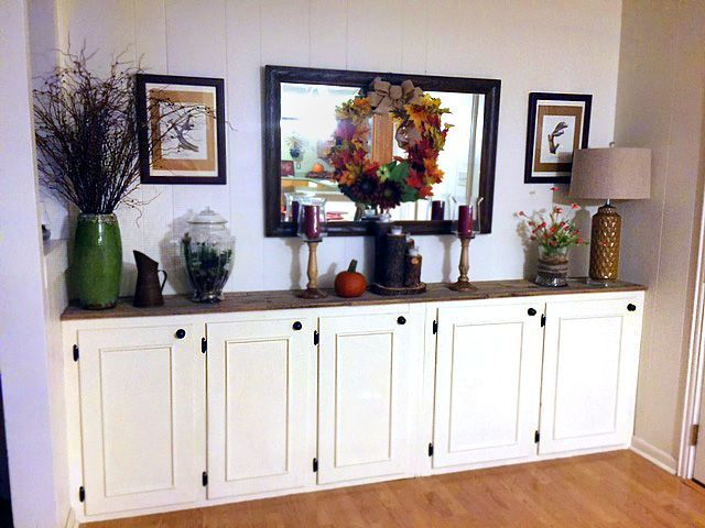 DIY storage buffet made of repurposed kitchen cabinets | Dream ...