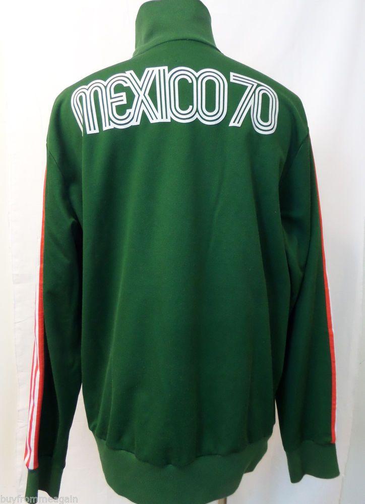 ADIDAS Mexico 70 Green Orange White Logo Jacket Soccer Ball
